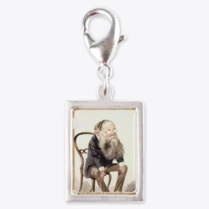 Wilkie Collins Silver Portrait Charm