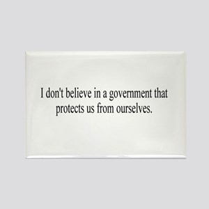 Government Protection? Rectangle Magnet