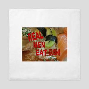 Real men eat sushi Queen Duvet