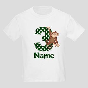 3rd Birthday Monkey Green T-Shirt