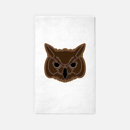 owl head 02 3'x5' Area Rug