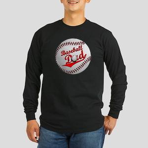 Baseball Dad Long Sleeve Dark T-Shirt