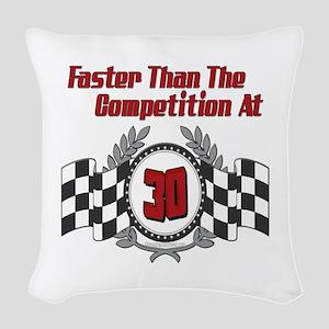 FasterAt30 Woven Throw Pillow
