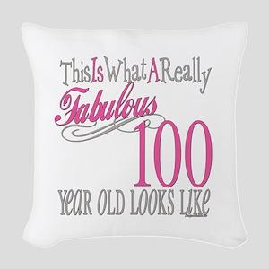 Fabulous 100yearold Woven Throw Pillow