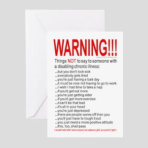 Disabling Chronic Illness Greeting Cards (Pkg 6)