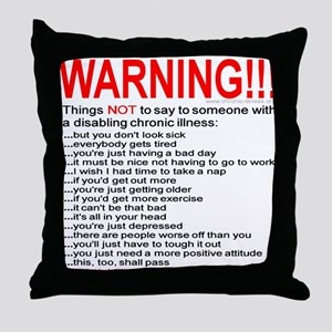 Disabling Chronic Illness Throw Pillow