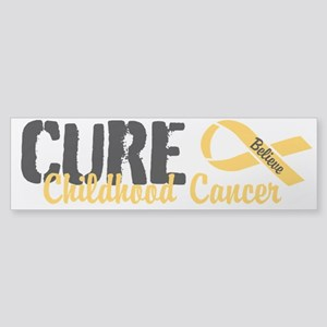 Cure Childhood Cancer Bumper Sticker