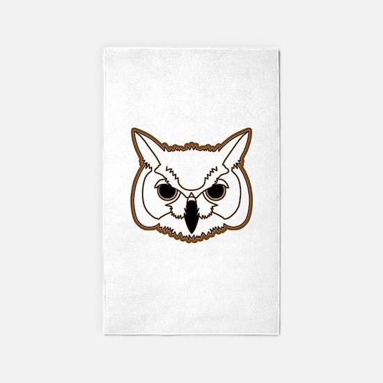 owl head 03 3'x5' Area Rug