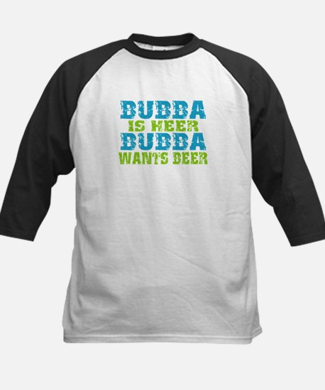 Bubba Is Here For Beer Kids Baseball Jersey
