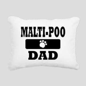 MALTI-POO DAD Rectangular Canvas Pillow