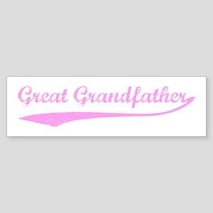 Vintage (Pink) Great Grandfat Bumper Sticker
