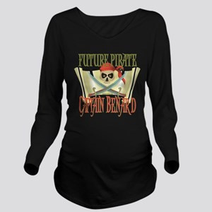 PirateBenard Long Sleeve Maternity T-Shirt