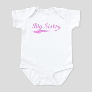 Vintage (Pink) Big Sister Infant Bodysuit