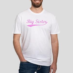 Vintage (Pink) Big Sister Fitted T-Shirt