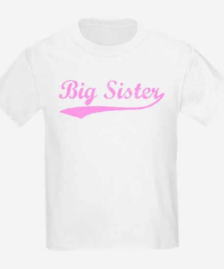 Vintage (Pink) Big Sister Kids T-Shirt