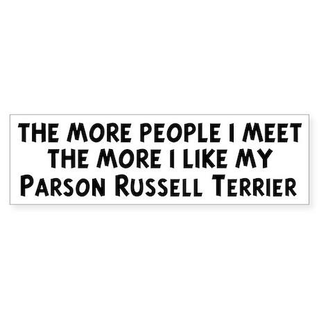 Parson Russell Terrier: peopl Bumper Sticker