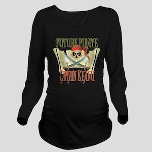 PirateKeanu Long Sleeve Maternity T-Shirt