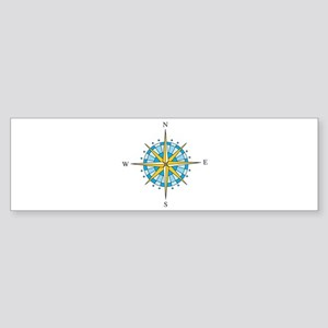 Compass Rose Bumper Sticker