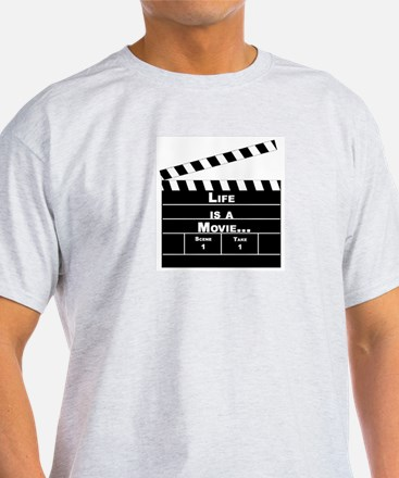Life Is A Movie... Ash Grey T-Shirt