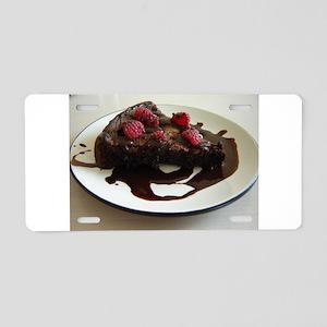 Chocolate Cake Aluminum License Plate