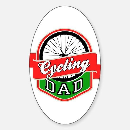 Cycling Dad Sticker (Oval)