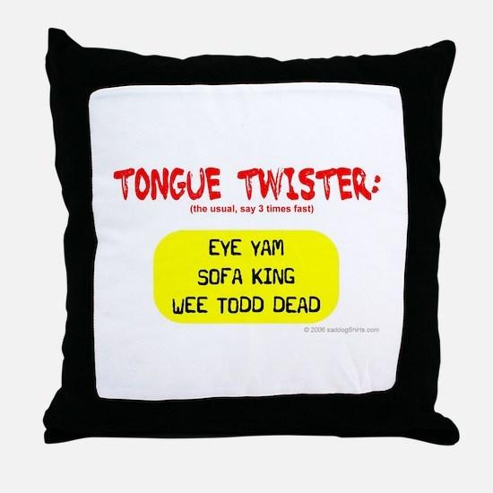 Tongue Twister Throw Pillow