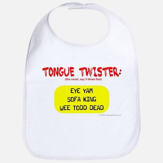 Tongue Twister Bib