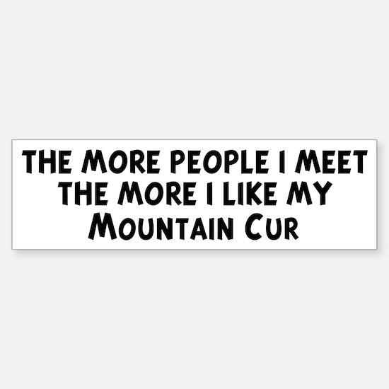 Mountain Cur: people I meet Bumper Bumper Bumper Sticker