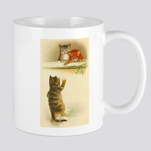 Cute Vintage Kittens Playing Mugs