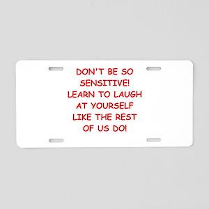 laugh Aluminum License Plate