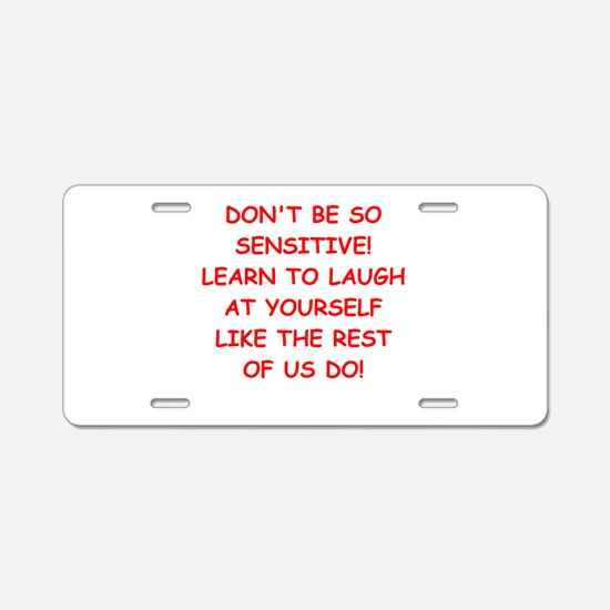 laugh Aluminum License Plate
