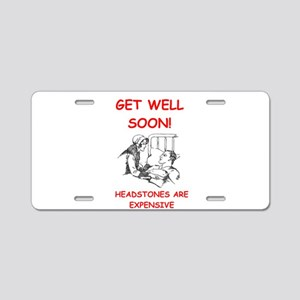 GET WELL Aluminum License Plate
