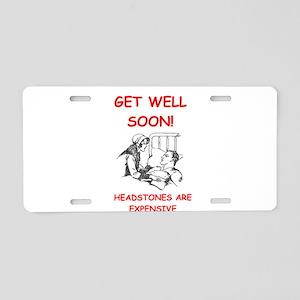 GET WELL Aluminum License Plate