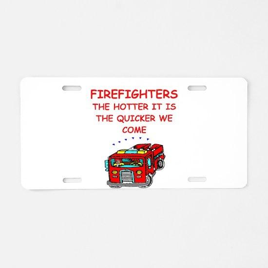 firefighter Aluminum License Plate