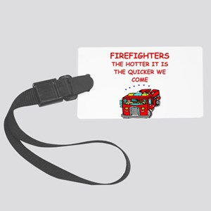 firefighter Luggage Tag