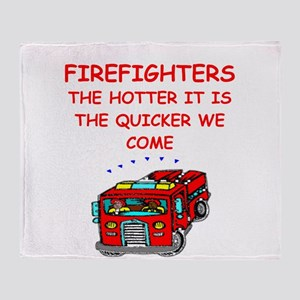 firefighter Throw Blanket