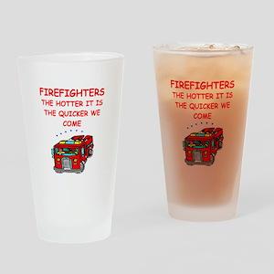 firefighter Drinking Glass