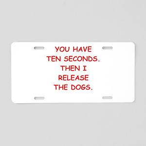 dogs Aluminum License Plate