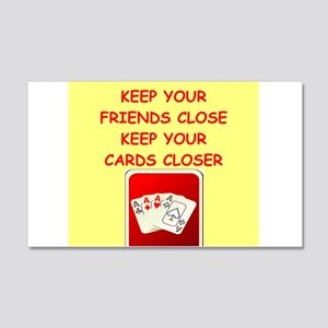 card player Wall Decal