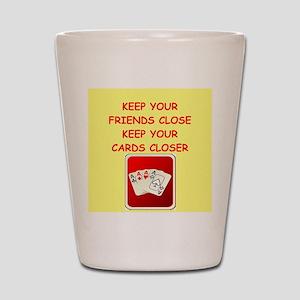 card player Shot Glass