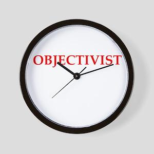 objectivist Wall Clock