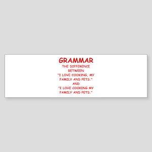 grammar Bumper Sticker