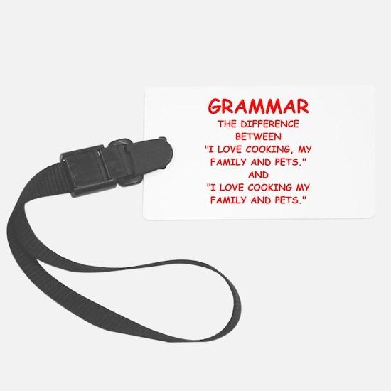 grammar Luggage Tag