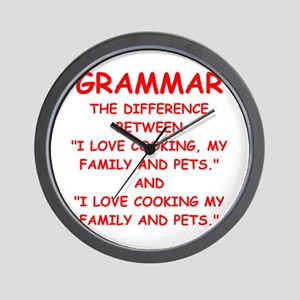 grammar Wall Clock