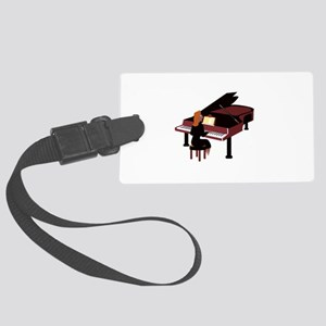 piano grand player brown Luggage Tag