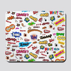Comic Words Mousepad