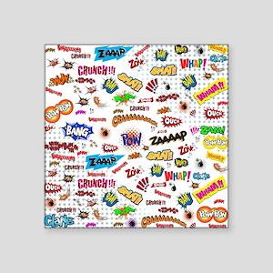 "Comic Words Square Sticker 3"" x 3"""