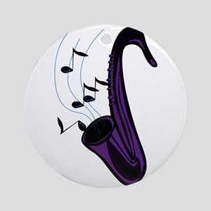 sax abstract saxophone w notes purple Ornament (Ro