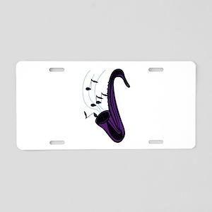 sax abstract saxophone w notes purple Aluminum Lic