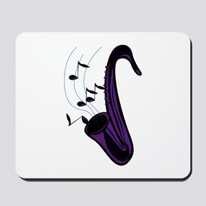 sax abstract saxophone w notes purple Mousepad